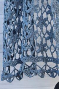 crochet lace shawl edging