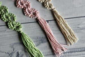 crochet bookmark tassels