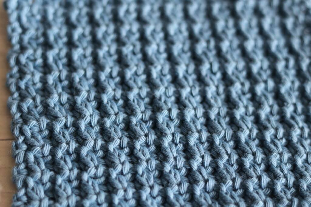 the single compress crochet stitch close up