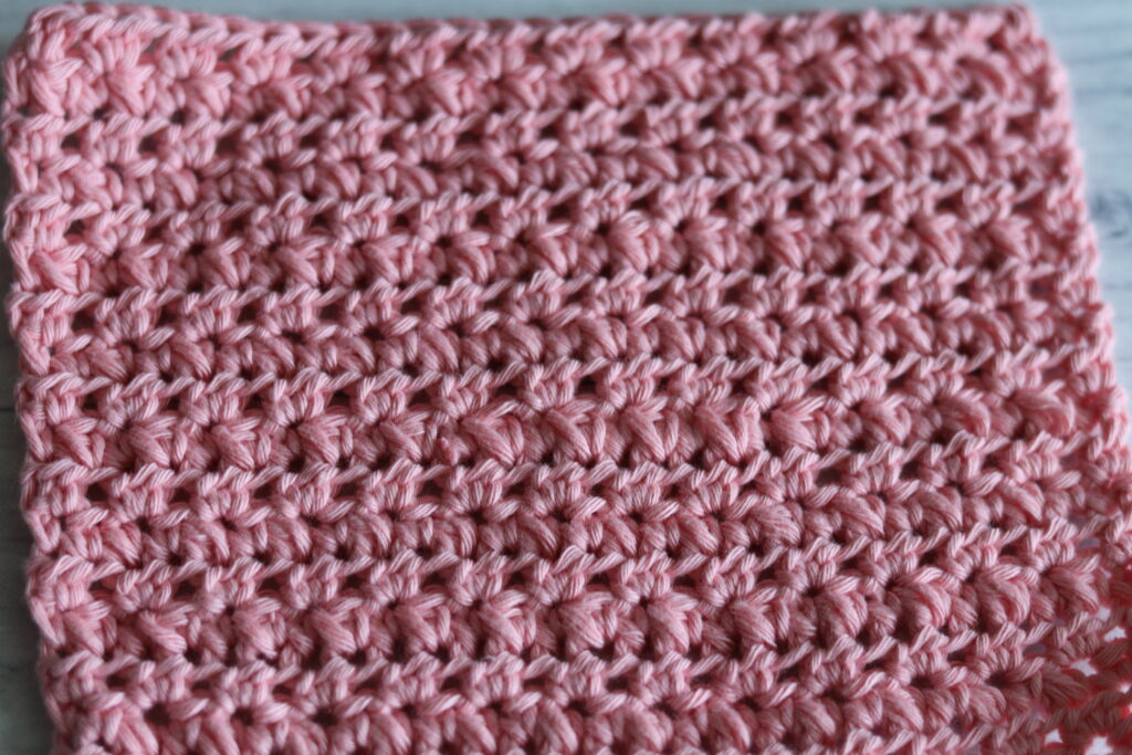 close up of the crochet Mayberry Stitch