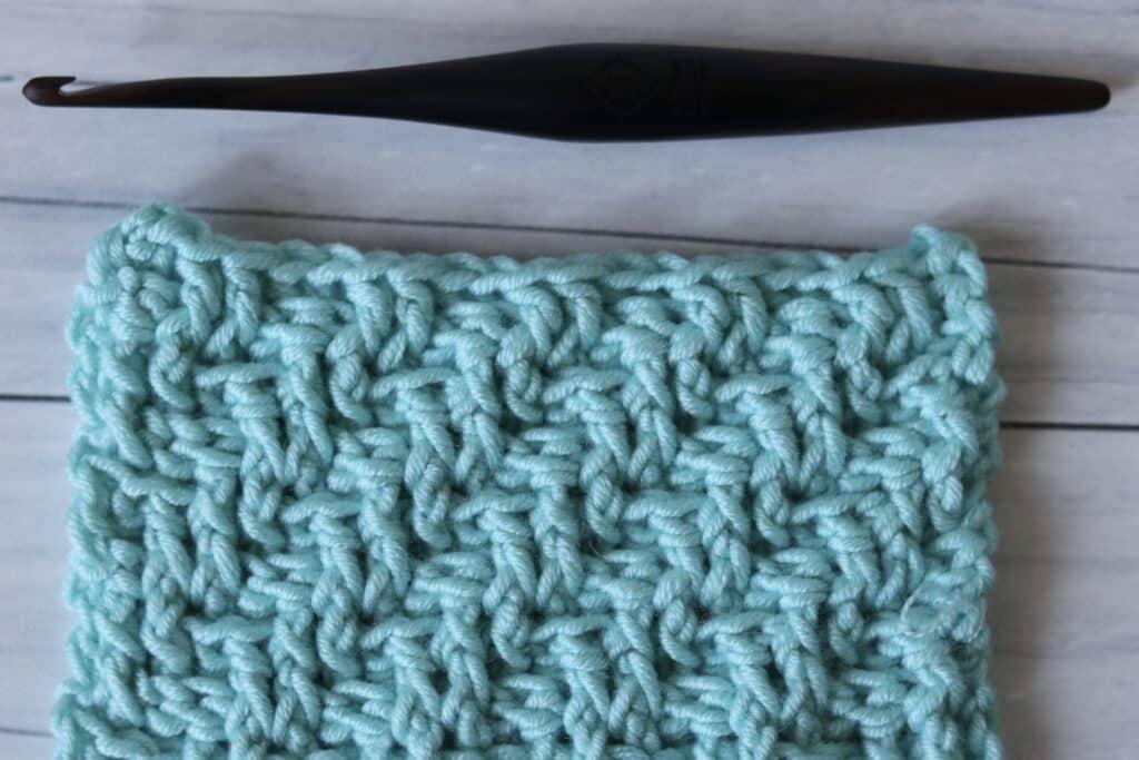 diagonal raised double crochet stitch